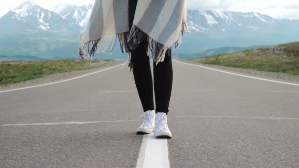Thumbnail for Person Walking On Mountain