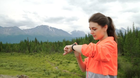 Thumbnail for Young Woman Running In Mountains On Sunny Summer Day. Beauty Female Runner Jogging And Exercising
