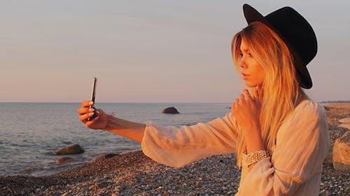 Girl Doing Selfie