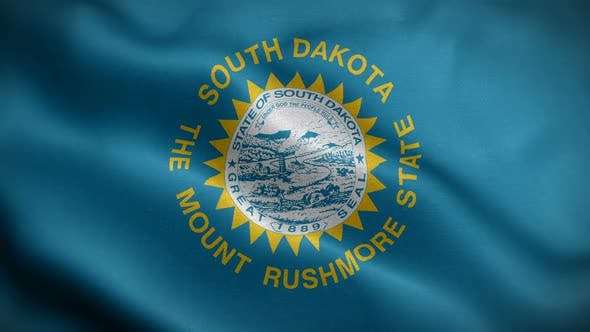 Thumbnail for South Dakota State Flag Blowing In Wind