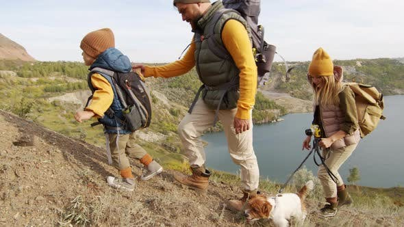 Family Hiking Together