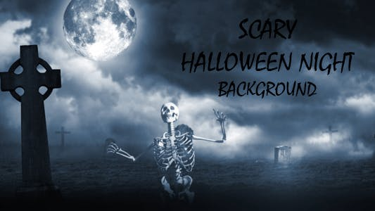 Thumbnail for Scary Halloween Night Background