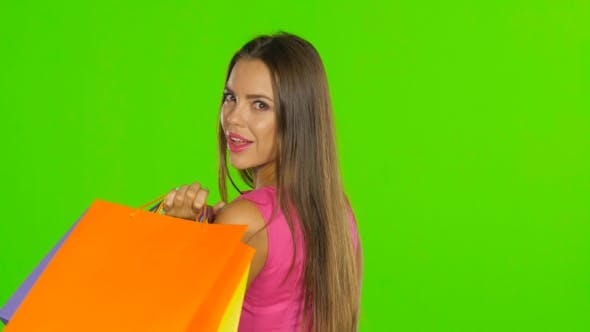 Cover Image for Woman With Shopping Bags