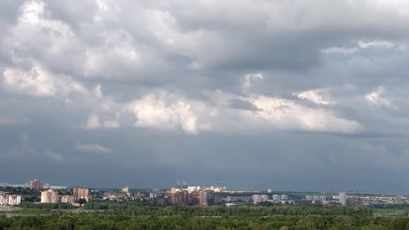 Thumbnail for Cloudscape over Novosibirsk city, Russia
