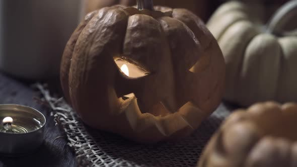Pumpkin Candle Light