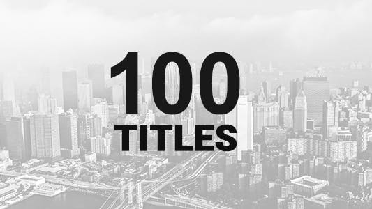 Thumbnail for 100 Titles Pack
