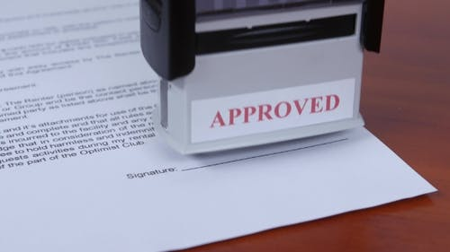 People Approved Conditions Of The Contract By Stamp.