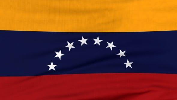 Thumbnail for Nationalflagge Venezuelas Fliegen auf dem Wind