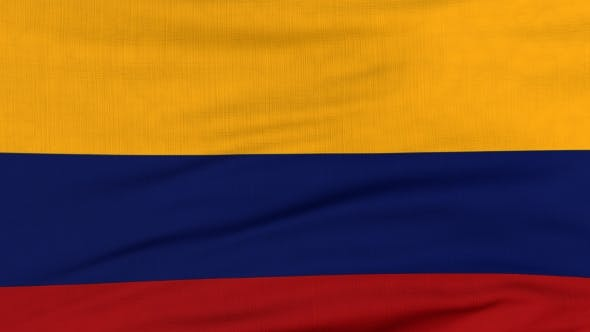 Thumbnail for National Flag Of Colombia Flying On The Wind