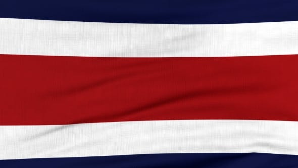 Thumbnail for National Flag Of Costa Rica Flying On The Wind