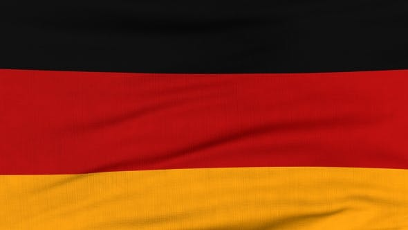 Thumbnail for National Flag Of Germany Flying On The Wind