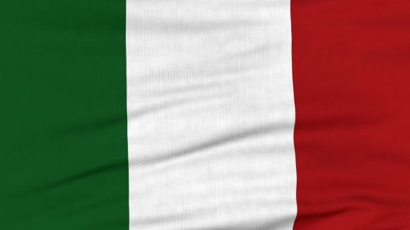 Thumbnail for National Flag Of Italy Flying On The Wind
