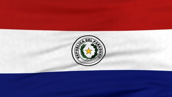 Thumbnail for National Flag Of Paraguay Flying On The Wind