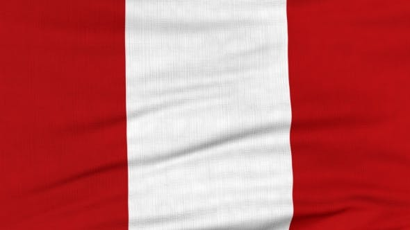 Thumbnail for National Flag Of Peru Flying On The Wind