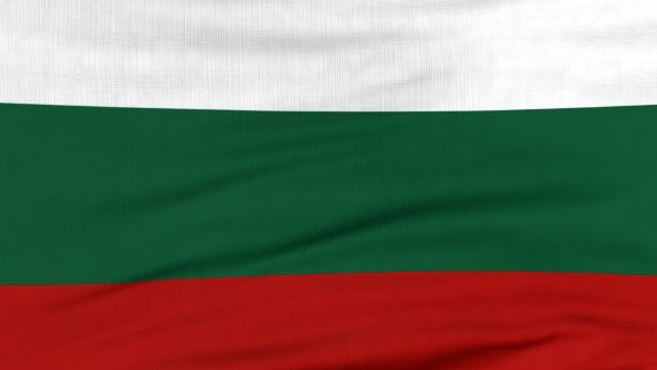 Thumbnail for National Flag Of Bulgaria Flying On The Wind