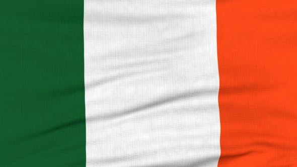 Thumbnail for National Flag Of Ireland Flying On The Wind