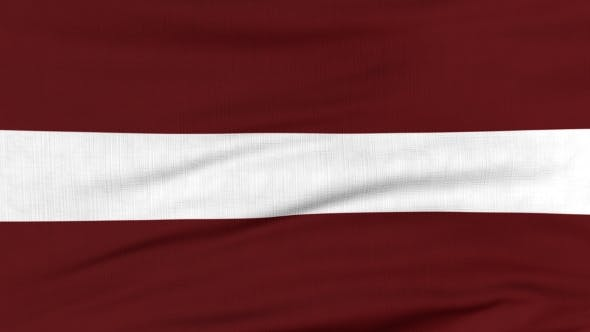 Thumbnail for National Flag Of Latvia Flying On The Wind