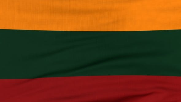 Thumbnail for National Flag Of Lithuania Flying On The Wind