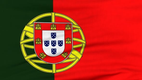 Thumbnail for National Flag Of Portugal Flying On The Wind