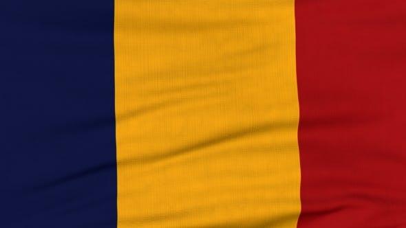 Thumbnail for Nationalflagge Rumäniens Fliegen auf dem Wind