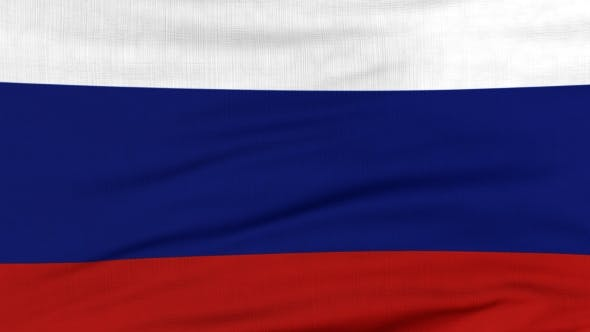 Thumbnail for National Flag Of Russia Flying On The Wind