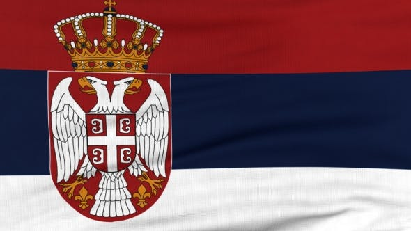 Thumbnail for National Flag Of Serbia Flying On The Wind