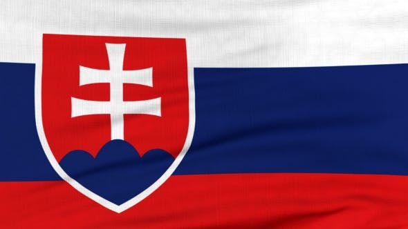 Thumbnail for National Flag Of Slovakia Flying On The Wind