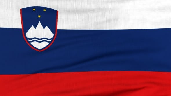 Thumbnail for National Flag Of Slovenia Flying On The Wind