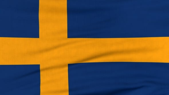 Thumbnail for National Flag Of Sweden Flying On The Wind