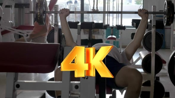 Thumbnail for Man Doing Bench Press Exercise In The Gym