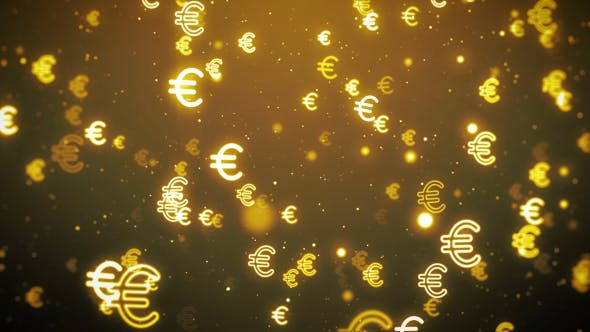 Thumbnail for Euro Currency Symbol Flying Motion