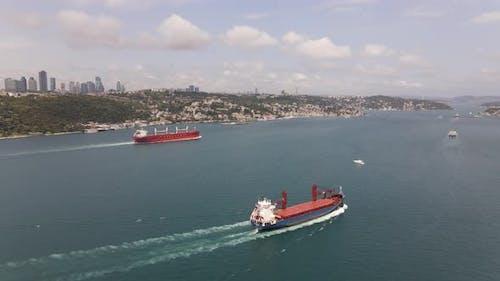 Ships in Bosphorus