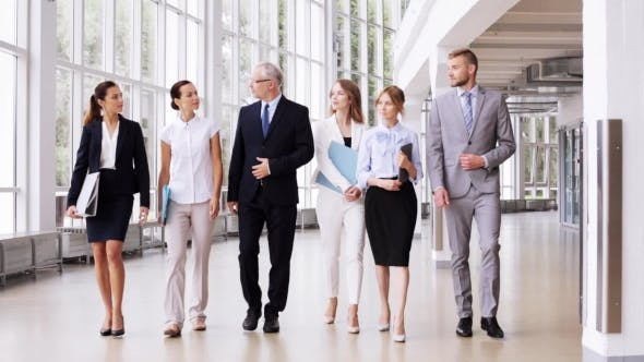Thumbnail for Business People Walking Along Office Building 2
