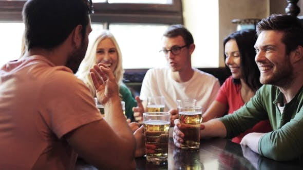 Thumbnail for Happy Friends Drinking Beer At Bar Or Pub 3