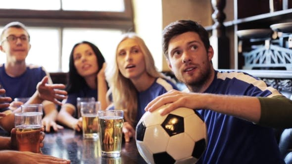 Thumbnail for Soccer Fans Watching Football Match At Bar Or Pub 29