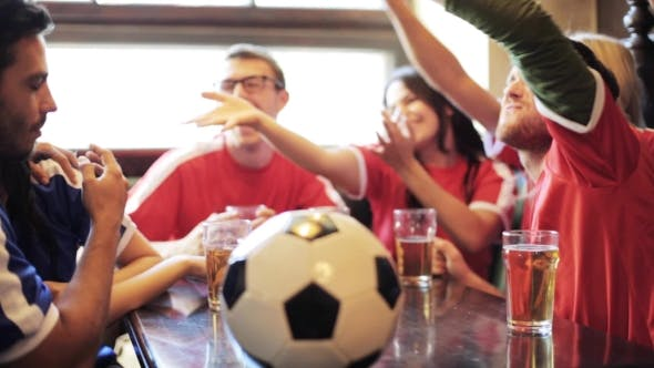 Thumbnail for Soccer Fans Watching Football Match At Bar Or Pub 38