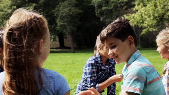 Thumbnail for Group Of Happy Pre-teen Playing Outdoors 8