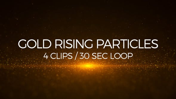 Cover Image for Gold Rising Particles
