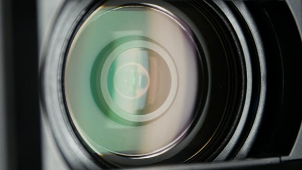 Thumbnail for Video Camera Lens, Showing Zoom And Glare, Turns,