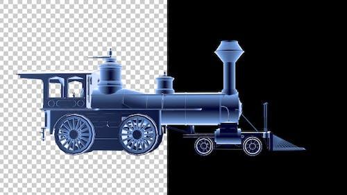 Locomotive 3D Outline