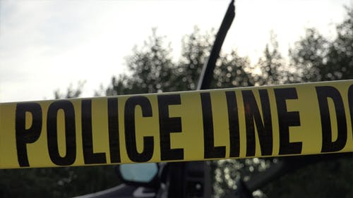 Polizei Linie nicht kreuzen