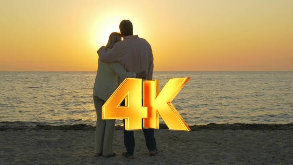 Thumbnail for Loving Senior Couple Enjoying Sunset Over Sea