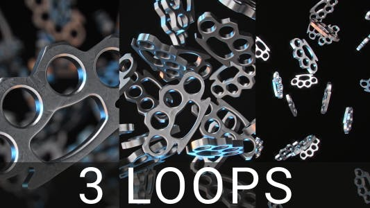 Thumbnail for Chrome Knuckle Duster Loops
