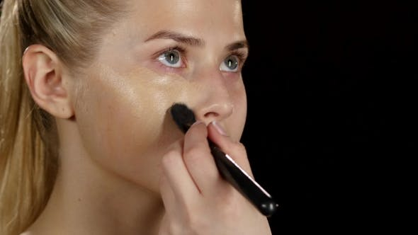 Thumbnail for Makeup. Applying Foundation. Black.