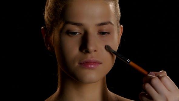 Thumbnail for Makeup. Cosmetics. Makeup Artist At Work