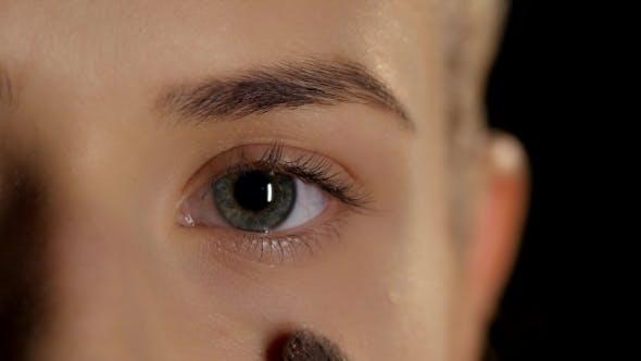 Thumbnail for Applying Highlighter. Make Up. Eye. Black.