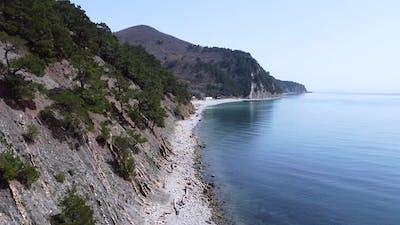 Sea expanse landscape, high seashore