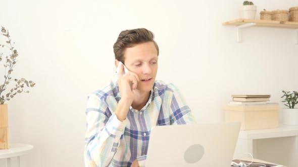 Phone Negotiations, Young Man