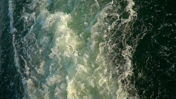 Thumbnail for Bubbling Water From a Motor a Floating Ship