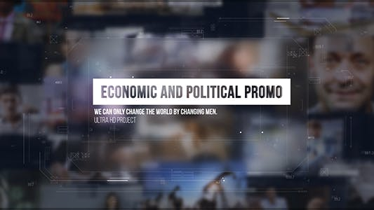 Economic and Political Promo/ Digital HUD Slide/ Sci-fi Technology/ Business Presentations/ Images